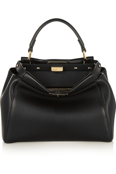 7d3f5a5bb305 Fendi. Peekaboo mini leather tote