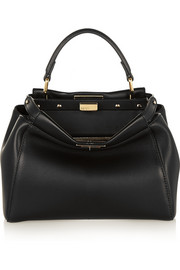 Peekaboo mini leather tote