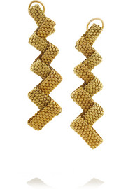 Fred Leighton 1960s 14-karat gold mesh clip earrings