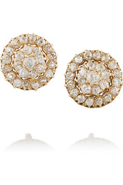 Fred Leighton 1890s 15-karat rose gold diamond earrings