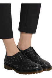 Eyelet-embellished leather lace-ups