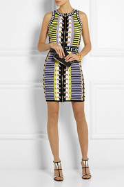 Versace Stretch-knit mini dress