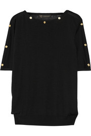 Versace Embellished wool and silk-blend sweater