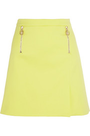 Stretch-cotton mini skirt