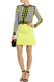 Versace Stretch-cotton mini skirt