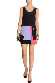 Versace Color-block cady mini skirt