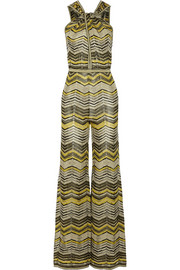 M Missoni Metallic crochet-knit jumpsuit