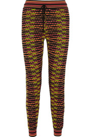 Crochet-knit track pants