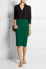 M Missoni Jacquard-knit pencil skirt