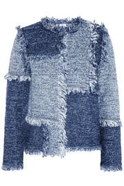 M Missoni Patchwork denim-look tweed jacket