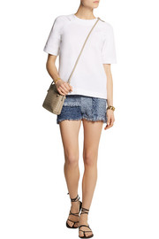 M Missoni Patchwork denim-look tweed shorts
