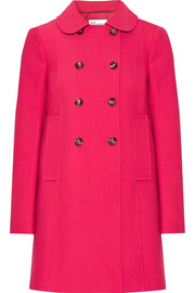 Stretch cotton-blend coat