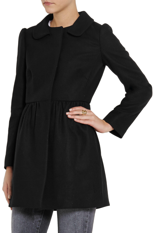 REDValentino Pleated wool-blend coat
