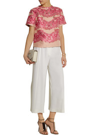 REDValentino Cropped brocade top