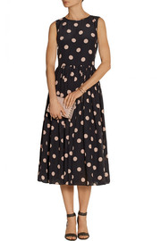 REDValentino Polka-dot silk crepe de chine dress