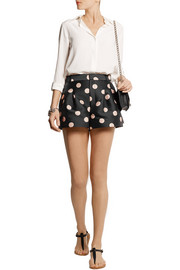 REDValentino Polka-dot satin-twill shorts