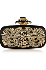 Oscar de la Renta Goa embellished satin box clutch