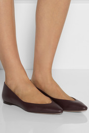 Chloé Leather point-toe flats
