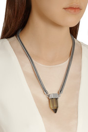 By Malene Birger Olympe stainless steel resin necklace