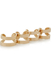Maison Martin Margiela Set of four gold-plated rings