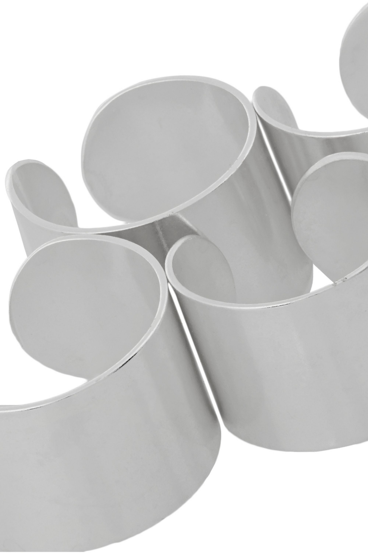 Maison Margiela Set aus vier versilberten Ringen