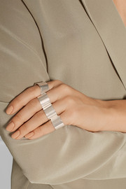 Maison Martin Margiela Set of four silver-plated rings