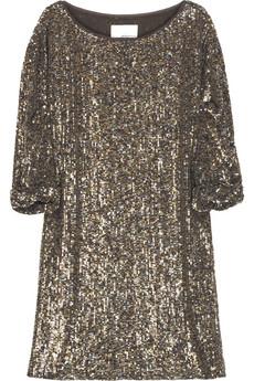 3.1 Phillip Lim|Silk sequined T-shirt dress|NET-A-PORTER.COM from net-a-porter.com