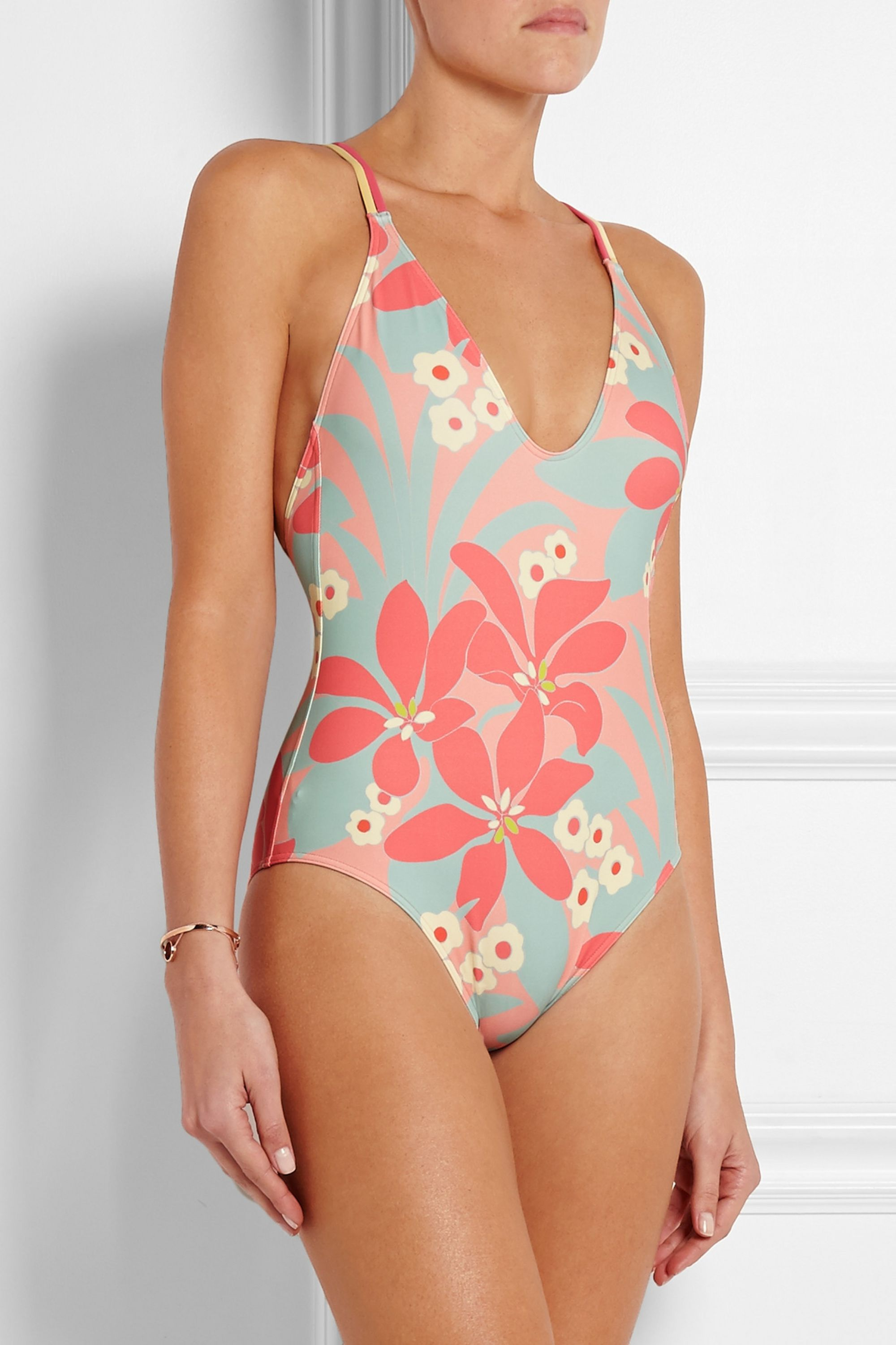 Eres + LHD printed swimsuit