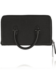 The File leather clutch