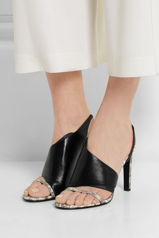 Alexander Wang Benoit lizard-effect leather sandals
