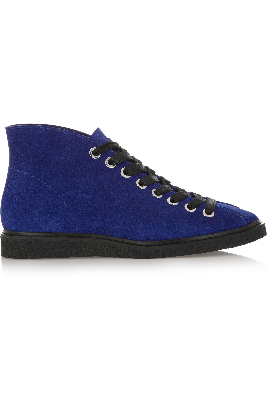 Royal blue Emmanuel suede ankle boots