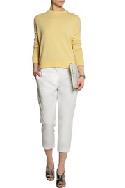 Jil Sander Cropped cotton-blend piqué tapered pants