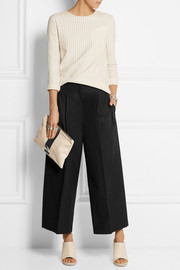 Jil Sander Cropped cotton-poplin wide-leg pants