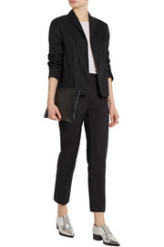 Jil Sander Pleated cotton-blend canvas blazer