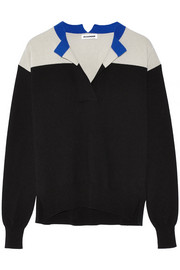 Color-block cashmere sweater