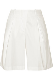 Jil Sander Pleated cotton-blend shorts