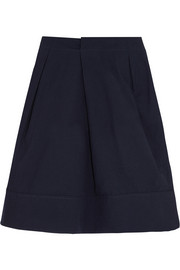 Jil Sander Pleated cotton-blend skirt