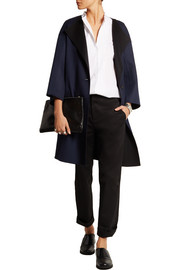 Oversized reversible double-faced cashmere coat