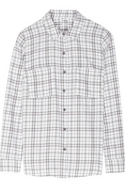 Splendid Hayes plaid cotton shirt