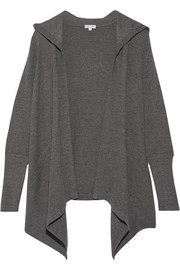 Hooded stretch Supima cotton and modal-blend cardigan