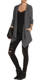 Splendid Hooded stretch Supima cotton and modal-blend cardigan