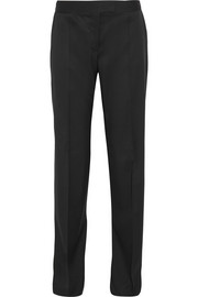 Jasmine wool-twill straight-leg pants
