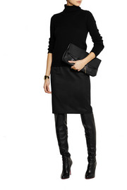 Kelly wool-twill pencil skirt