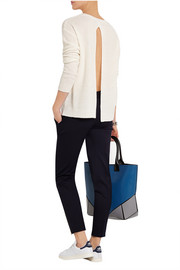 Stella McCartney Open-back cashmere and silk-blend sweater