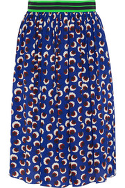 Lucy printed silk crepe de chine skirt