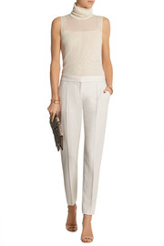 Stella McCartney Vivian wool-piqué tapered pants