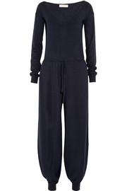 Wool and silk-blend jersey jumpsuit