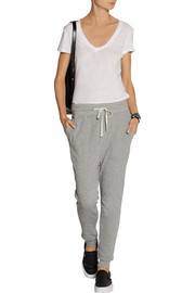 Cotton French terry track pants