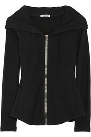 Cotton French terry hooded top