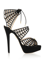 Charlotte Olympia Caught In Charlotte's Web suede sandals